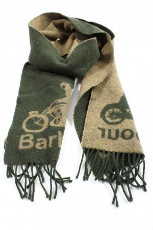 Barbour Woolen Scarf green-brown themed print casual look