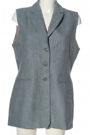 bardehle Waistcoat blue-light grey striped pattern casual look
