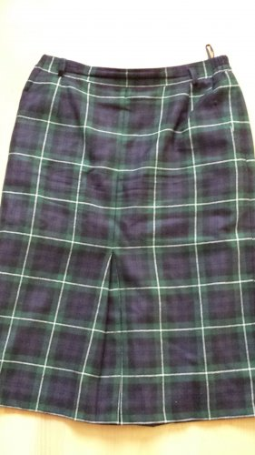 bardehle Wool Skirt dark blue-dark green