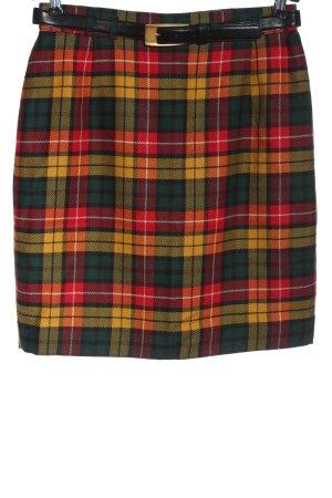 bardehle Jupe en laine motif à carreaux style d'affaires