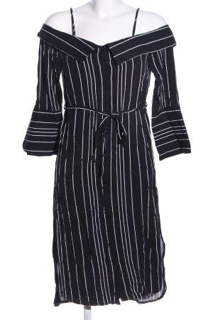 Bardot Blusenkleid schwarz-weiß Allover-Druck Casual-Look