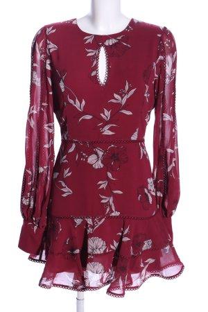 Bardot Blusenkleid rot-wollweiß Blumenmuster Casual-Look