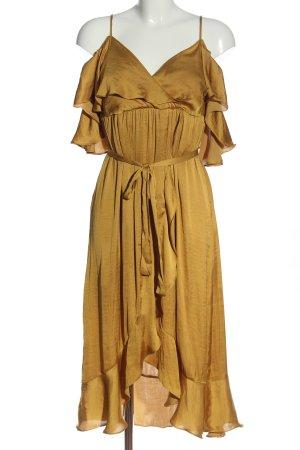 Bardot Midi-jurk goud casual uitstraling