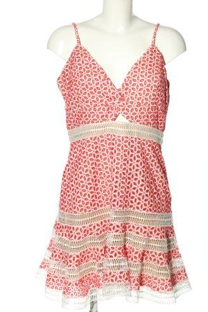 Bardot Minikleid weiß-rot Allover-Druck Casual-Look