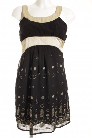 Bardot Minikleid schwarz-goldfarben Elegant