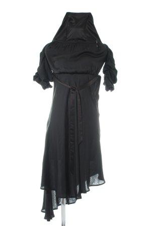 Bardot schulterfreies Kleid schwarz Elegant