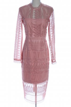 Bardot Abito in pizzo rosa stile casual