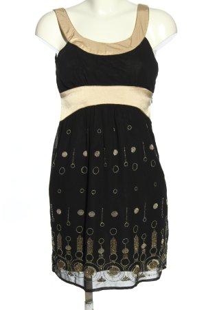 Bardot Trägerkleid schwarz-goldfarben Allover-Druck Casual-Look