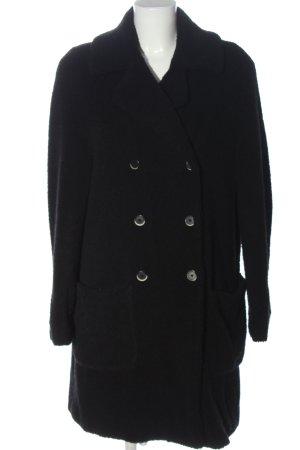 Barena Płaszcz ze sztucznym futrem czarny W stylu casual