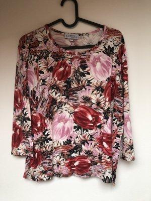 Barisal 3/4 Ärmel Shirt, Baumwolle, Flowerprint