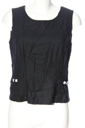 Barisal Mouwloze blouse zwart casual uitstraling
