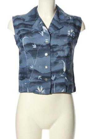 Barisal Mouwloze blouse blauw volledige print casual uitstraling