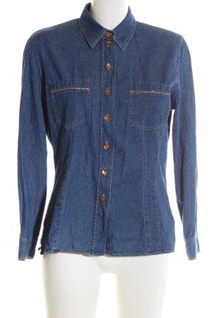 Barisal Chemise en jean bleu style décontracté