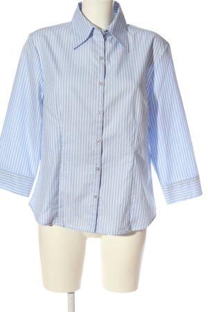 Barisal Shirt met lange mouwen blauw-wit gestreept patroon casual uitstraling