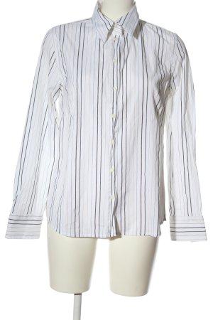 Barisal Camicia a maniche lunghe bianco-nero motivo a righe stile professionale