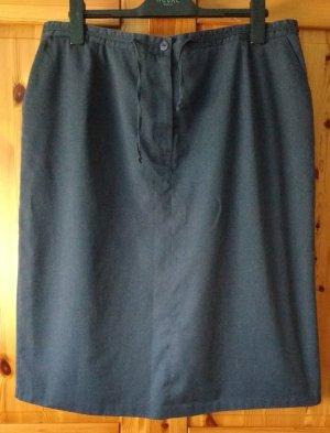 Barisal Jupe crayon bleu foncé tissu mixte