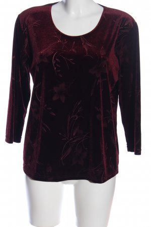 Barisal Slip-over Blouse red-black flower pattern casual look