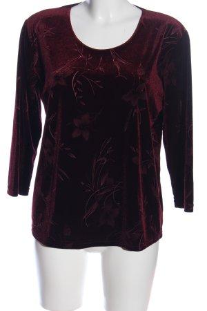 Barisal Slip-over blouse rood-zwart bloemenprint casual uitstraling