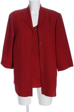 Barisal Twin set in maglia rosso stile casual