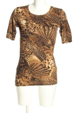 Barisal T-Shirt braun-creme abstraktes Muster Casual-Look