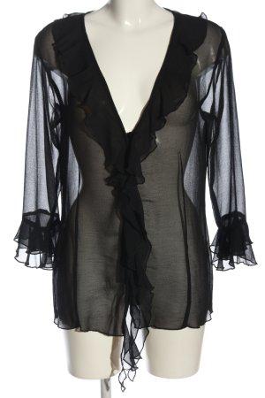 Barisal Blouse transparente noir style décontracté