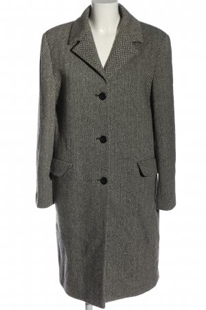 Barisal Wollen jas wolwit-zwart volledige print casual uitstraling