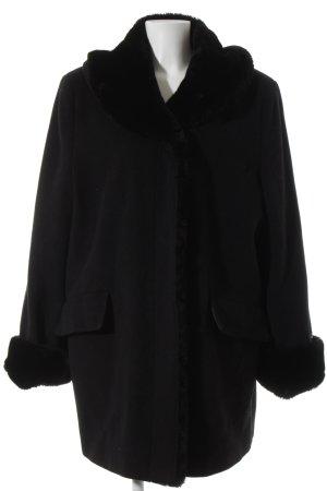 Barisal Manteau en laine noir style classique