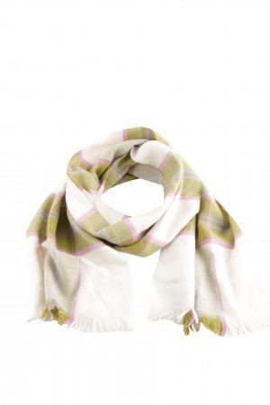 Barneys New York Fringed Scarf check pattern casual look