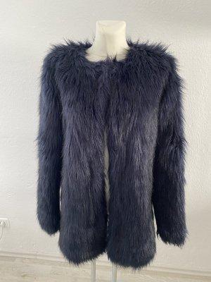 Barneys Originals Fell Fake Fur Felljacke Pelz Pelzjacke Teddy Navy 38 Kunst Style so cute miu