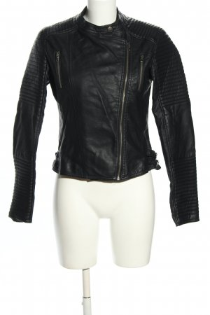 Barneys Originals Veste en cuir synthétique noir motif de courtepointe