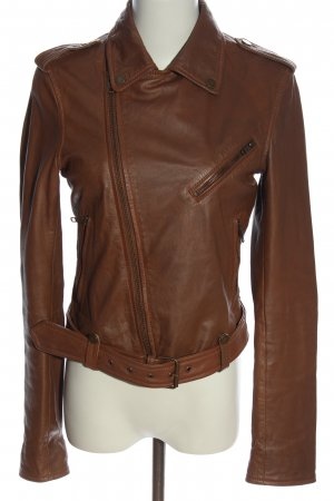 Barneys Originals Leather Jacket brown casual look