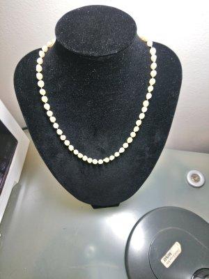 Barock Natur Perlenkette mit Gold 585er verschluss