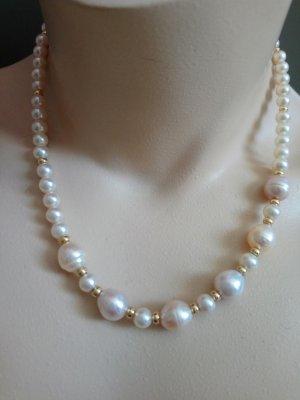 Barock Perlenkette mit 585 Gold verschluss