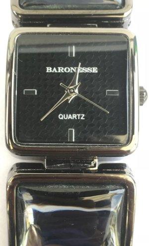 Baronesse Zegarek z metalowym paskiem czarny-srebrny