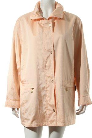 Baronia von Gollas Between-Seasons Jacket apricot-cream striped pattern