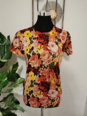 Barreds Collection Damen Shirt T-Shirt Feinripp Blumen Muster Größe L NEU
