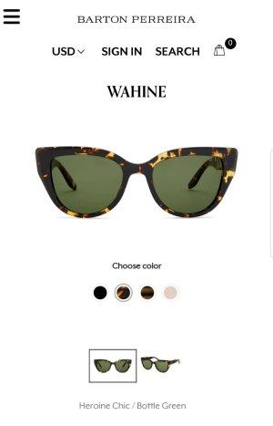 Gafas de sol redondas marrón-marrón oscuro