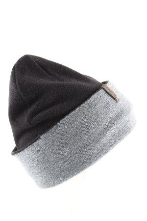 Barts Berretto nero-grigio chiaro puntinato stile casual