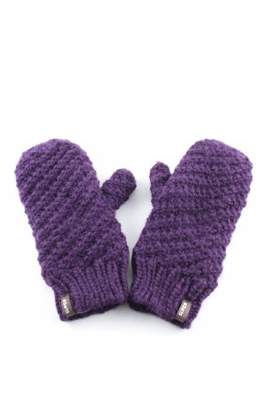 Barts Mittens lilac cable stitch casual look