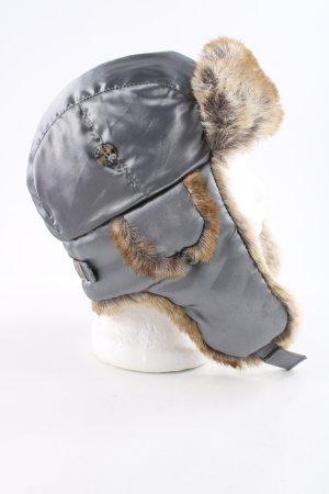 Barts Vliegenierspet zilver-wolwit casual uitstraling