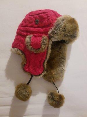 Barts Chapeau d'aviateur rouge framboise-magenta