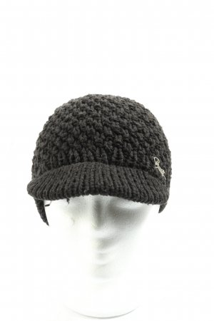 Barts Crochet Cap black weave pattern casual look