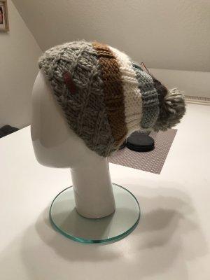 Barts Chapeau en tricot brun-orange foncé