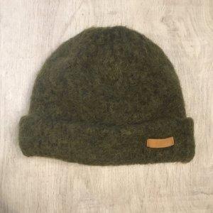 Barts Chapeau en tricot kaki-vert foncé