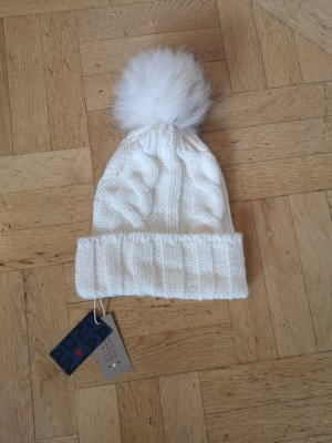 Barts Bobble Hat natural white wool