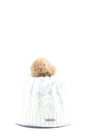 Barts Cappello con pon pon bianco stile casual