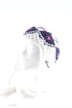 Barts Bonnet à pompon motif en zigzag molletonné polyester