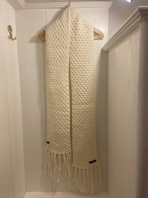 Barts Gebreide sjaal wolwit