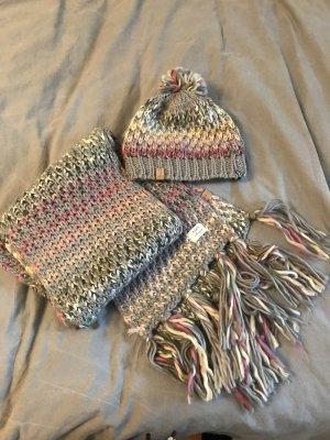 Barts Écharpe en tricot multicolore