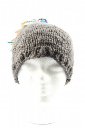 Barts Knitted Hat light grey cable stitch casual look